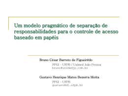 Um modelo pragmático de separação de responsabilidades para o