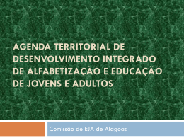 agenda territorial de desenvolvimento integrado de alfabetização e