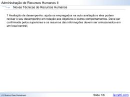 Técnicas de Recursos Humanos