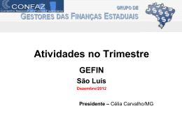 atividades no trimestre gt-previdencia x conaprev