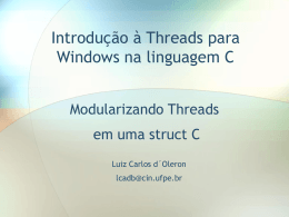 Threads para Windows com C