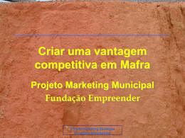 Criar uma vantagem competitiva em Mafra - PACA