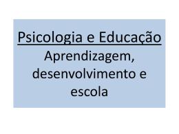 Psicologia e Educação - Universidade Castelo Branco