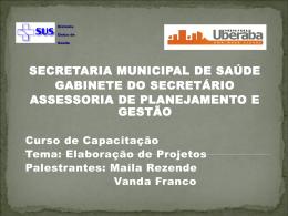 Slide 1 - Prefeitura Municipal de Uberaba