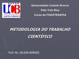 Metodologia Científica - Universidade Castelo Branco