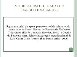 modelagem do trabalho cargos e salários