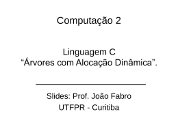 Slides sobre Árvores Binárias - DAINF