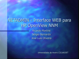 NETADMIN - Interface WEB para HP OpenView