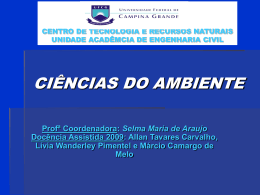 CIÊNCIAS DO AMBIENTE Profª Coordenadora