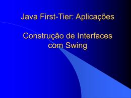 Java First-Tier: Aplicações