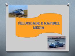 Velocidade e rapidez média