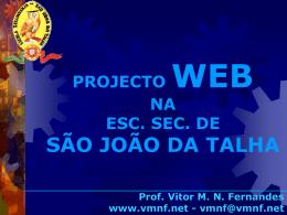 Apresentação em PPT - Escola Secundária de São João da Talha