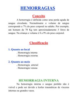 Hemorragias - Defesa Civil do Paraná