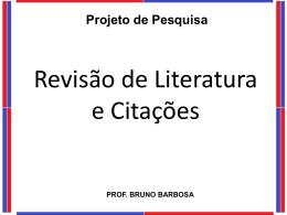 Revisão de Literatura - Universidade Castelo Branco