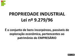 propriedade industrial lei nº 9.279-96