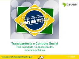 Controle e gestão de estoque - Observatório Social do Brasil