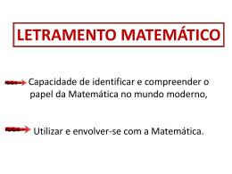 LETRAMENTO MATEMÁTICO - Diretoria de Ensino
