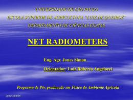 Net Radiometer - LEB/ESALQ/USP
