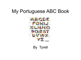 My Portuguese ABC Book