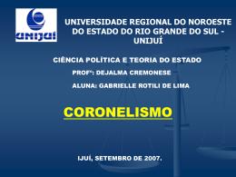 coronelismo - Capital Social Sul