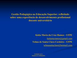 Desenvolvimento profissional docente universitário