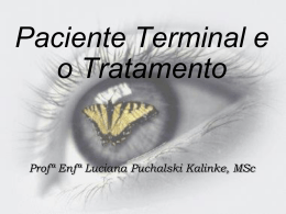 Paciente Terminal e o Tratamento