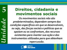 Os movimentos sociais Capítulo 15 Os movimentos sociais