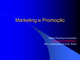 Mix de Marketing - Information Resource Center Brazil