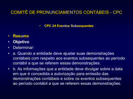 CPC 24 Eventos Subsequentes
