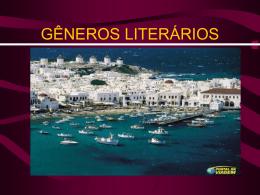GÊNEROS LITERÁRIOS
