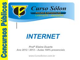 INTERNET - Curso Sólon Concursos