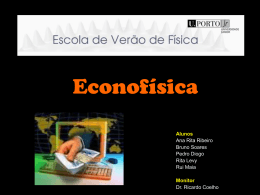 Econofísica - Portal do Projecto Faraday