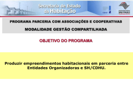 VANTAGENS DA GESTÃO COMPARTILHADA