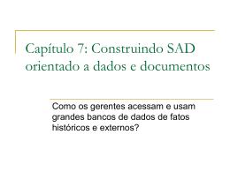 Capítulo 8: Construindo SAD orientado a dados e documentos