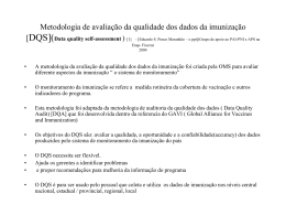 Metodologia de avaliação da qualidade dos dados da
