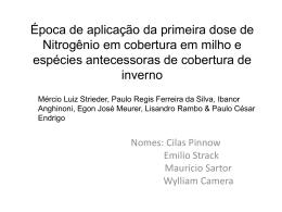 Época de aplicação da primeira dose de Nitrogênio em