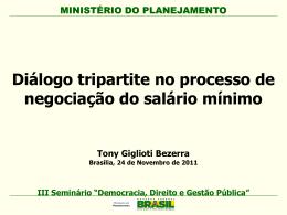 Diálogo tripartite no processo de negociação do