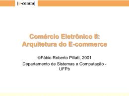 Arquitetura do e-commerce