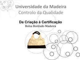 Processo de Criação - Universidade da Madeira