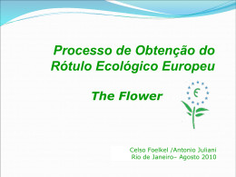 o selo verde Flor europeu