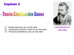 3.1 Modelo Molecular de um Gás Ideal