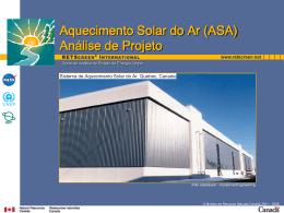 Aquecimento Solar do Ar (ASA) Análise de Projeto