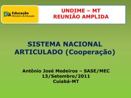 SISTEMA NACIONAL ARTICULADO (Cooperação)