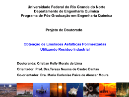 Universidade Federal do Rio Grande do Norte Departamento de