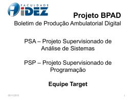 Projeto BPAD