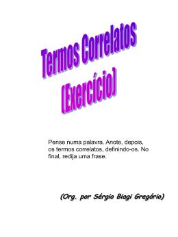 Termos Correlatos - Sérgio Biagi Gregorio