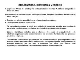 organização, sistemas & métodos - Universidade Castelo Branco