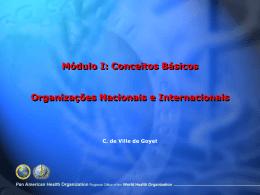 Organizações Nacionais e Internacionais