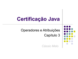 Certificação Java