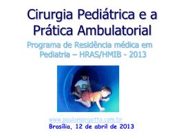operação na criança - Paulo Roberto Margotto